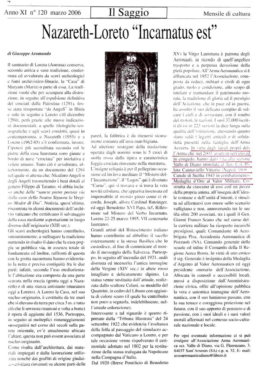 IlSaggio_03.2006_articoloAAA_Vallo di Diano