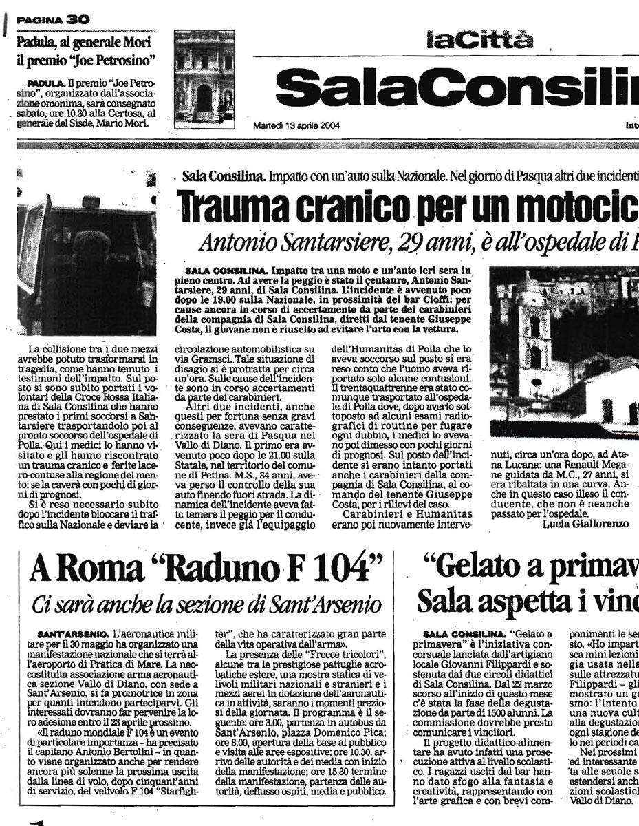 LaCittà_13.04.2004_articoloAAA_Vallo di Diano