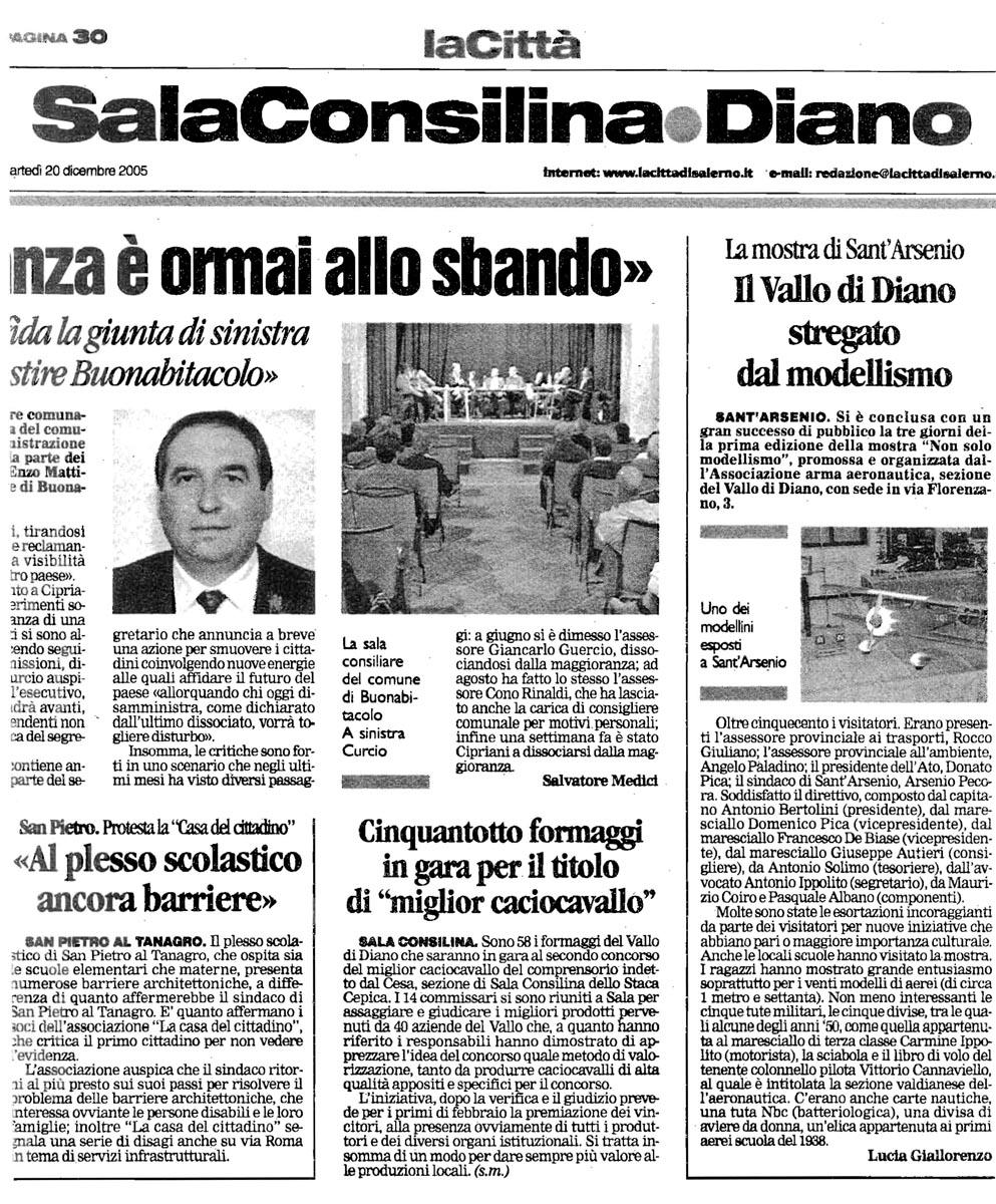 LaCittà_20.12.2005_articoloAAA_Vallo di Diano