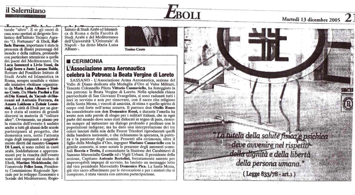 IlSalernitano_13.12.2005_articoloAAA_Vallo di Diano