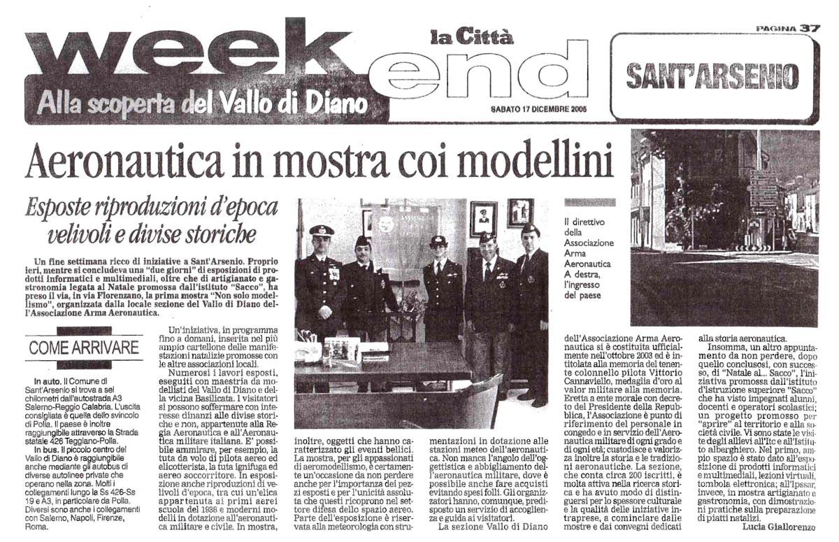 LaCittà_17.12.2006_articoloAAA_Vallo di Diano